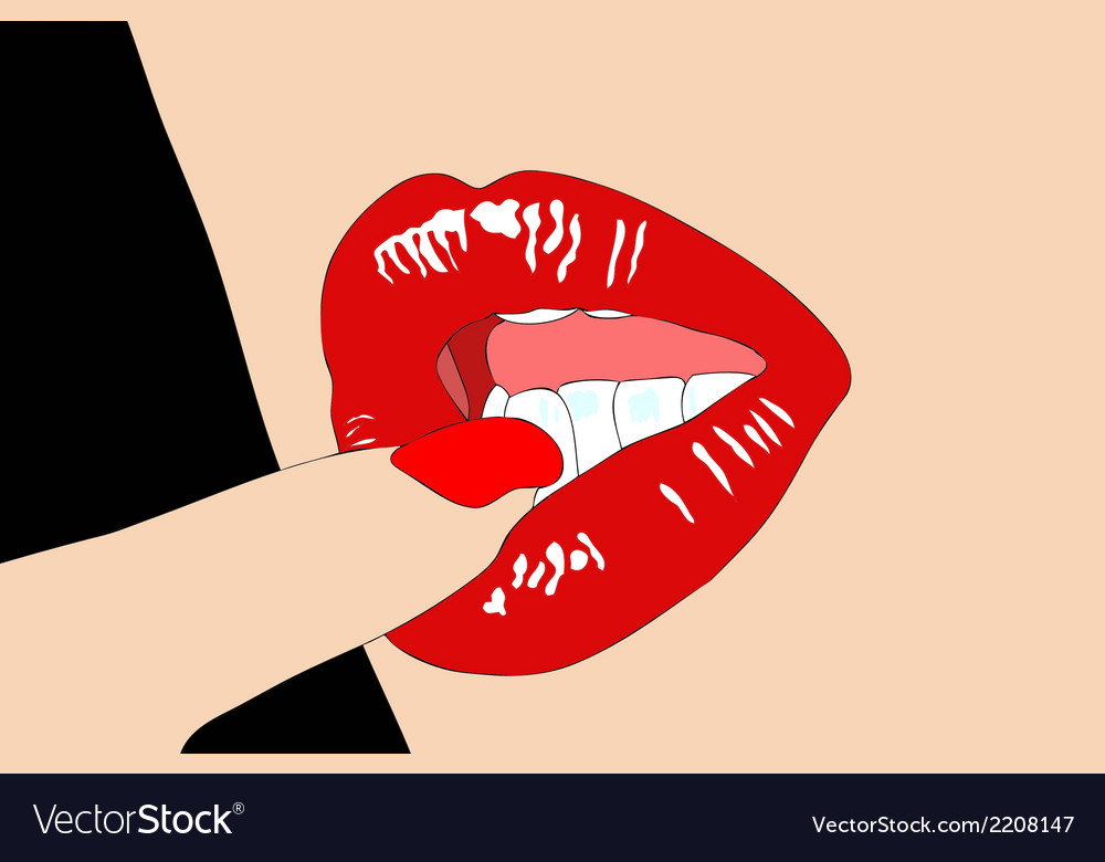 The mouth of a woman very mischievous vector | Price: 1 Credit (USD $1)