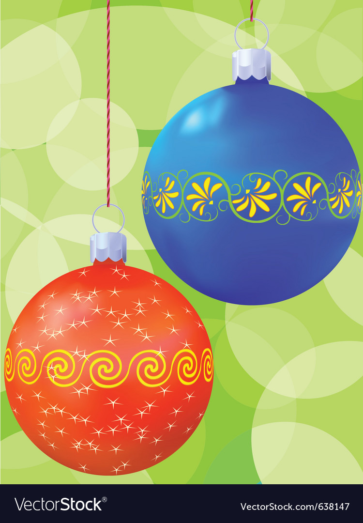 New years balls vector | Price: 1 Credit (USD $1)
