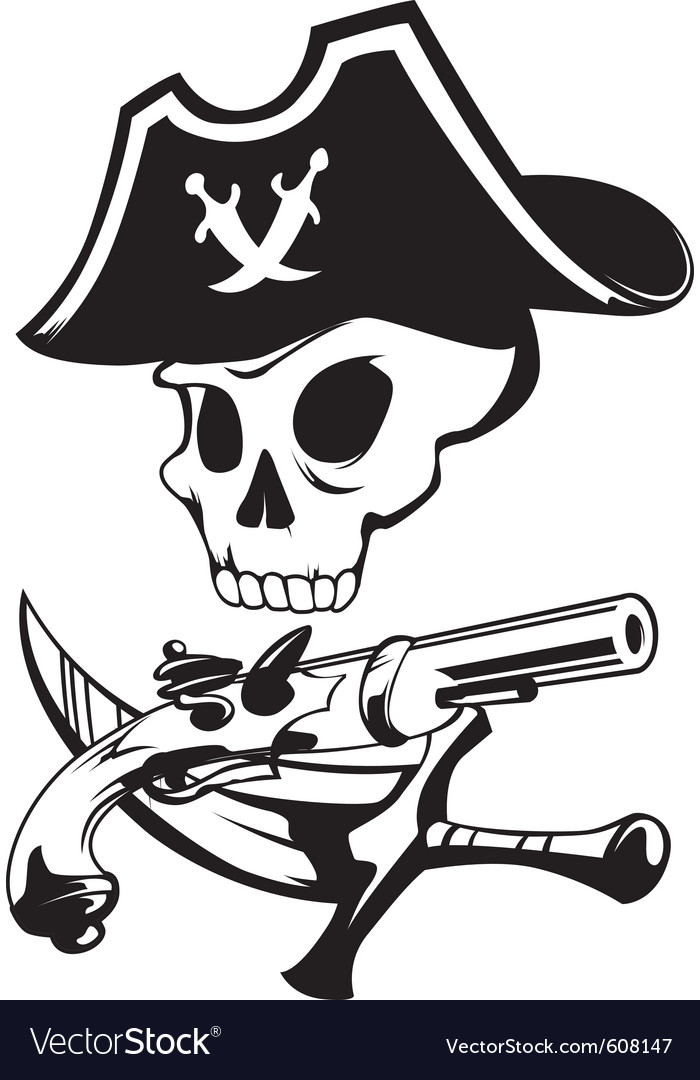 Pirate sign vector | Price: 1 Credit (USD $1)