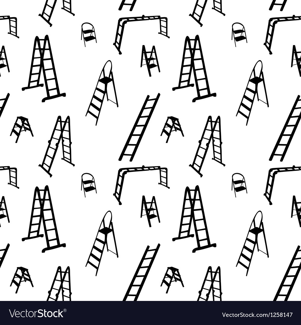Seamless pattern of ladder silhouette vector | Price: 1 Credit (USD $1)
