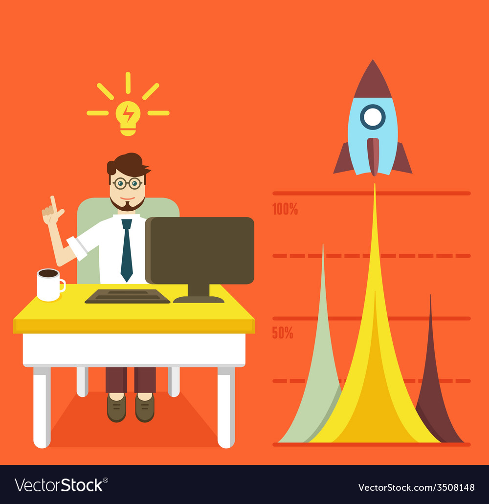 Business optimization and business growth graph vector | Price: 1 Credit (USD $1)