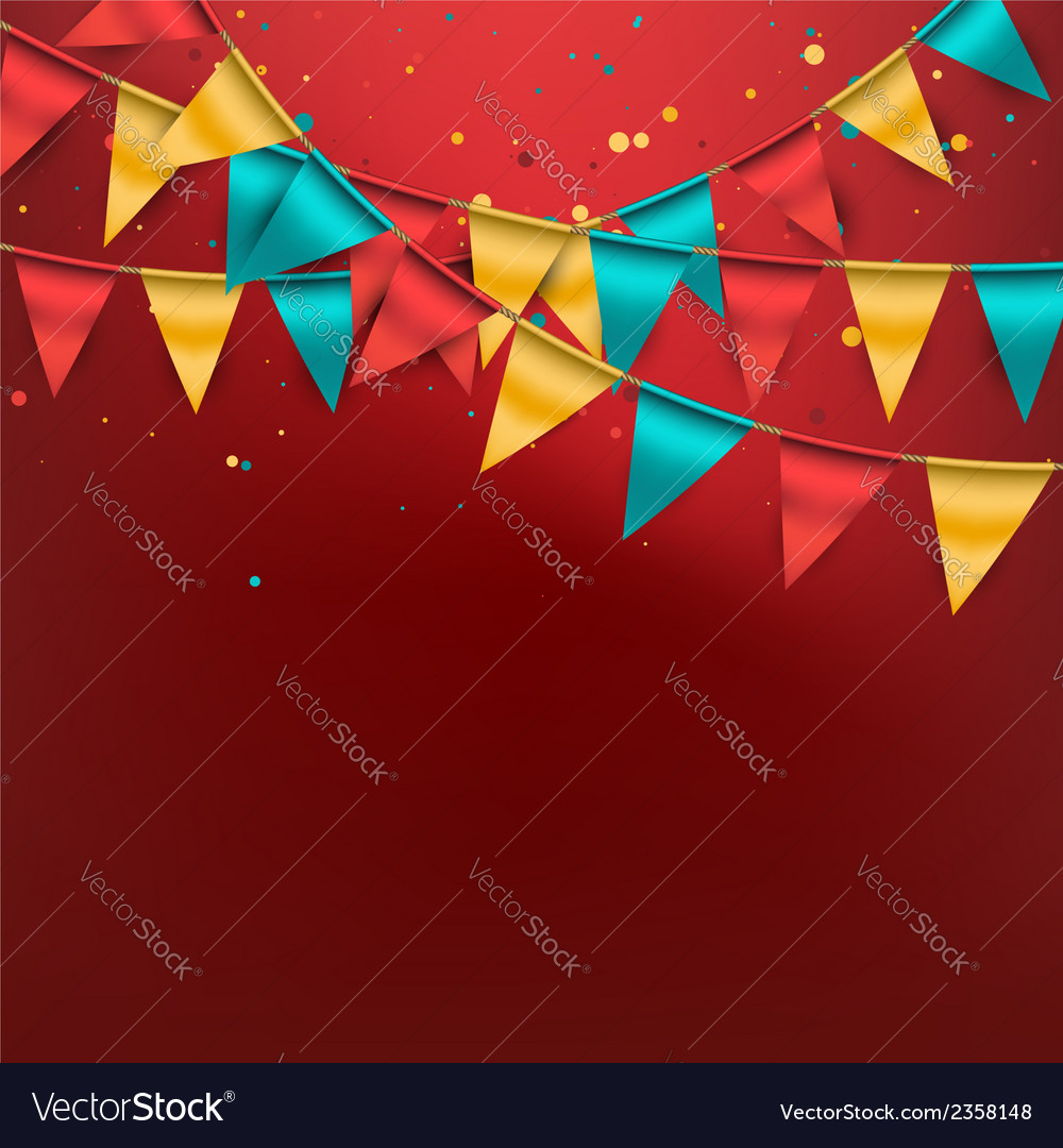 Festive bunting background vector | Price: 1 Credit (USD $1)