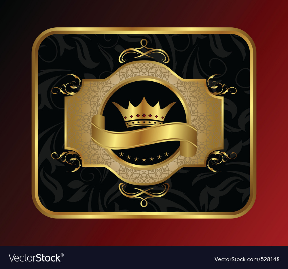 Golden label for packing vector | Price: 1 Credit (USD $1)