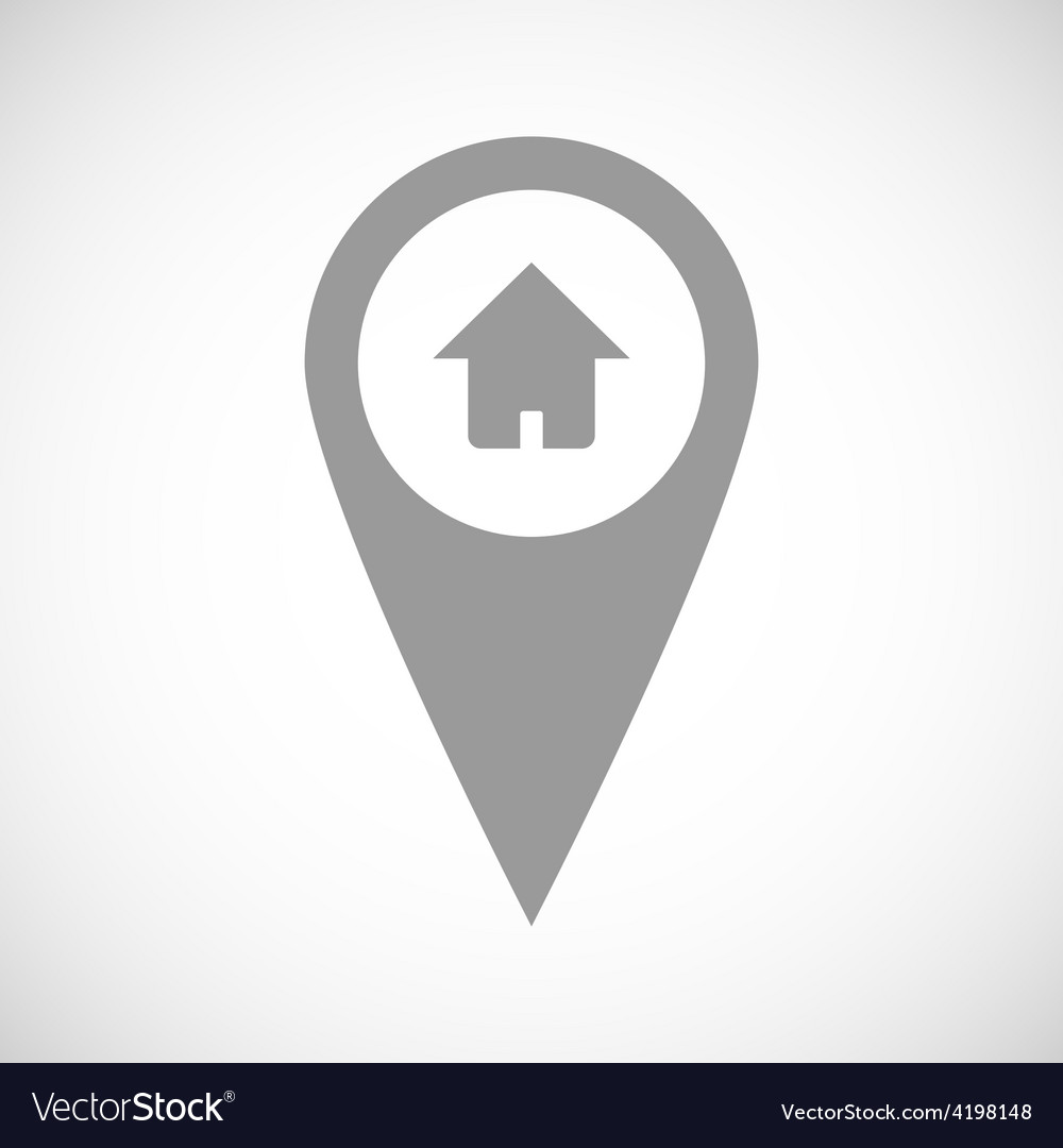 Home pointer black icon vector | Price: 1 Credit (USD $1)
