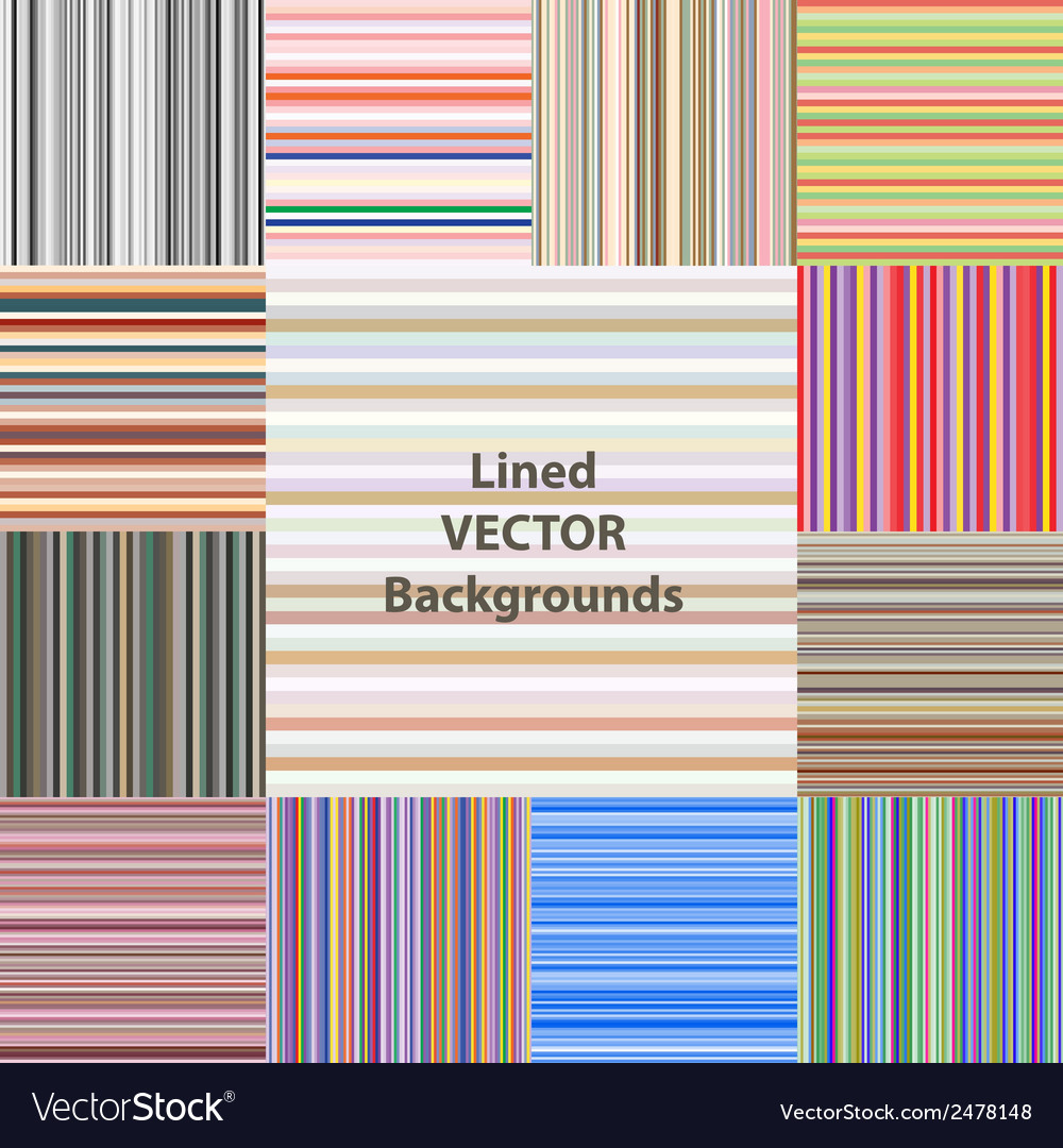 Lined patterns set vector | Price: 1 Credit (USD $1)