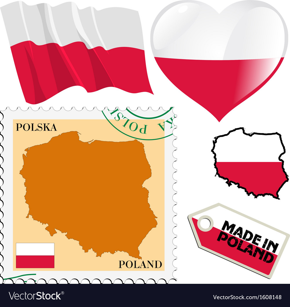 National colours of poland vector | Price: 1 Credit (USD $1)