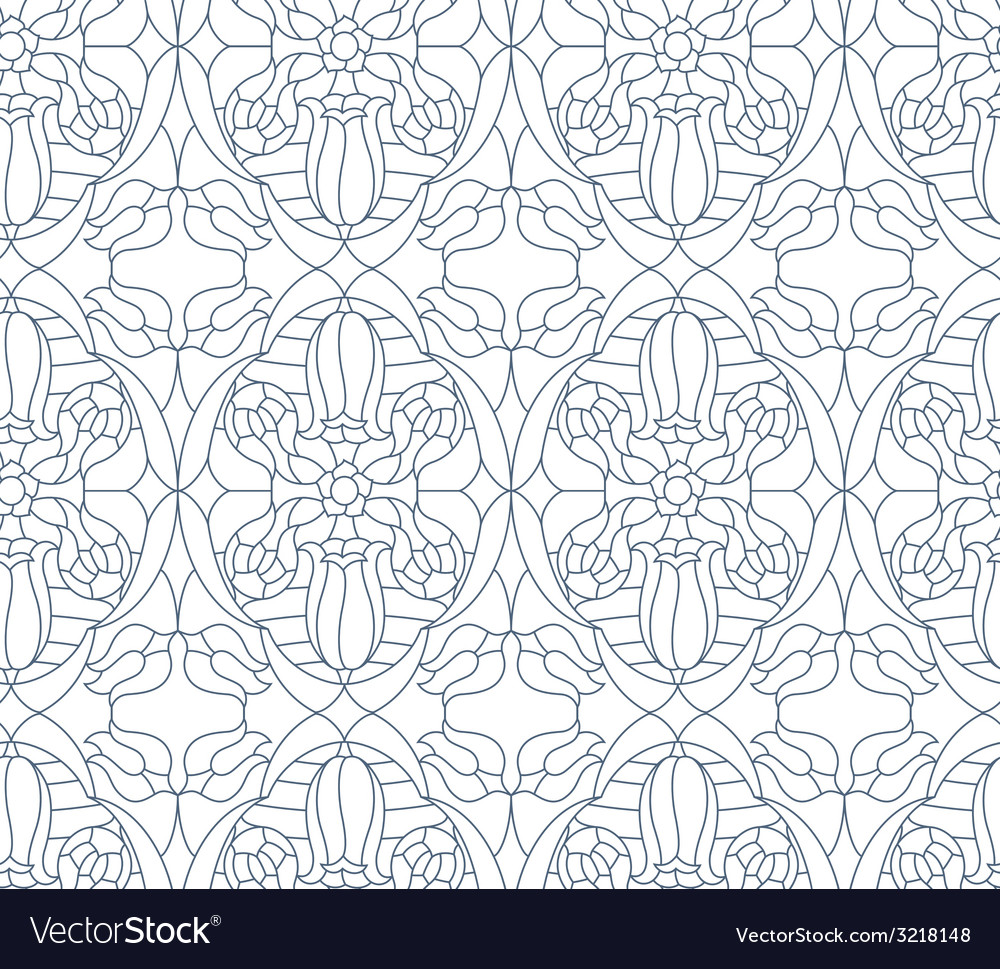 Seamless floral pattern composition of stylized vector | Price: 1 Credit (USD $1)