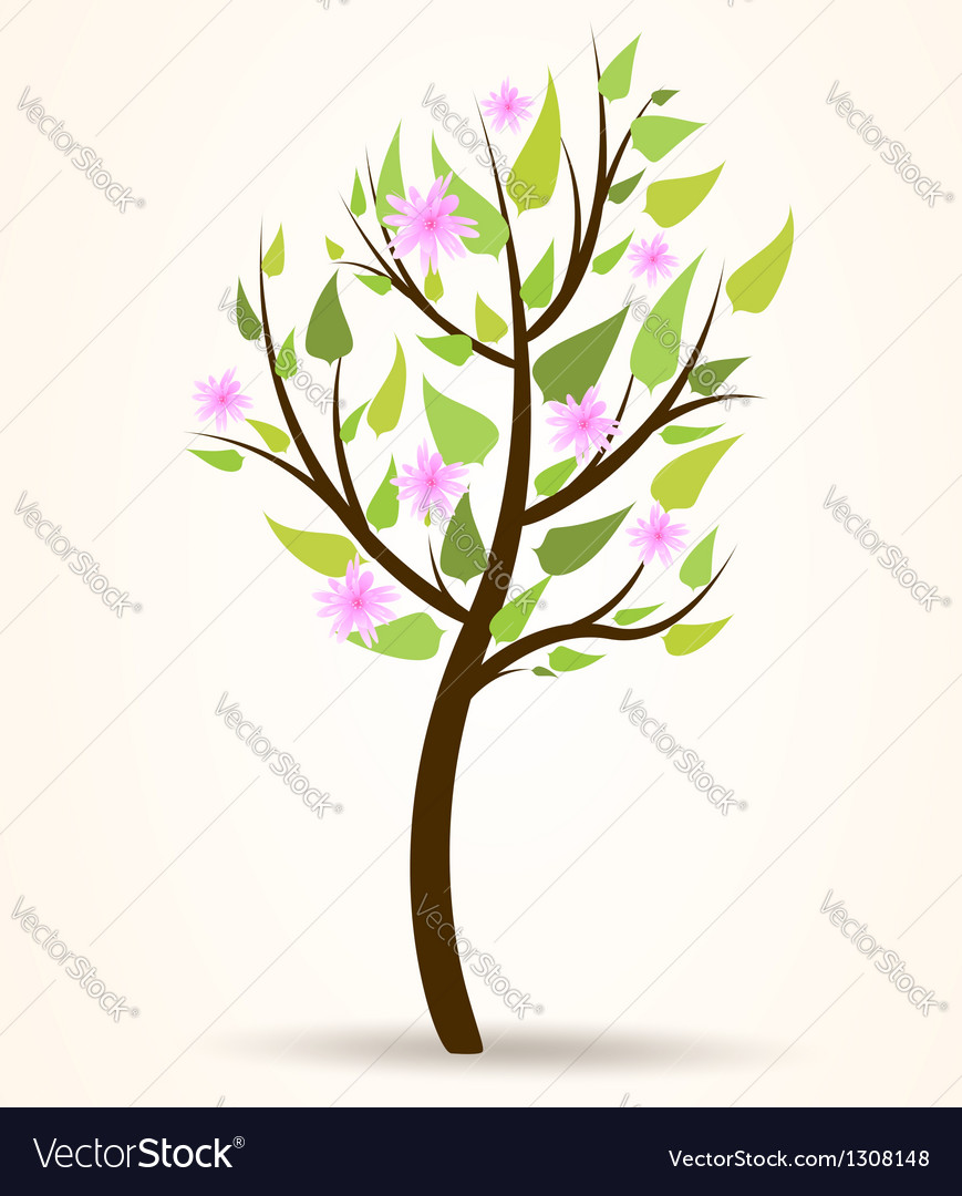 Spring blossom tree vector | Price: 1 Credit (USD $1)