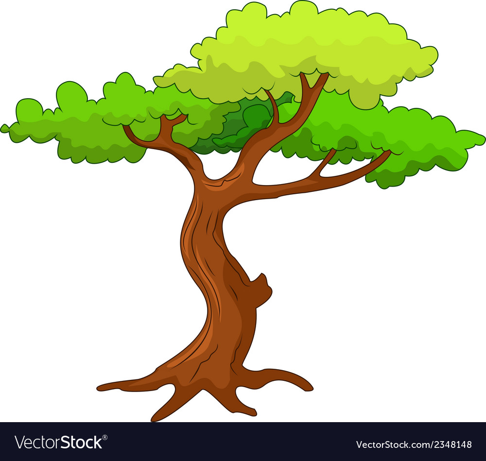 Tree cartoon vector | Price: 1 Credit (USD $1)