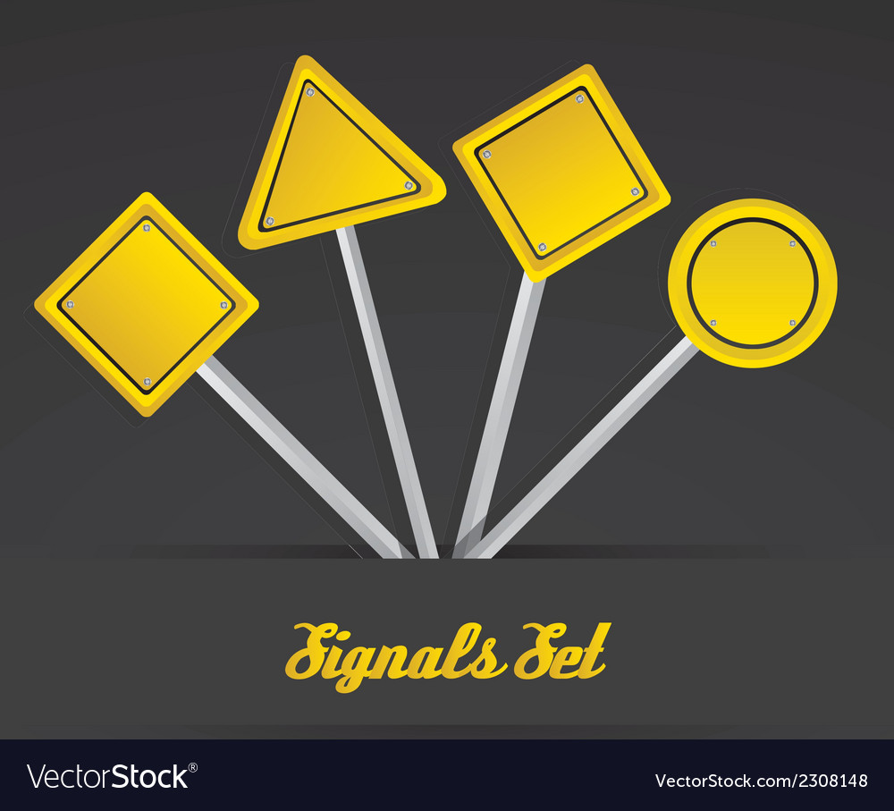 Yellow sign over black background vector | Price: 1 Credit (USD $1)