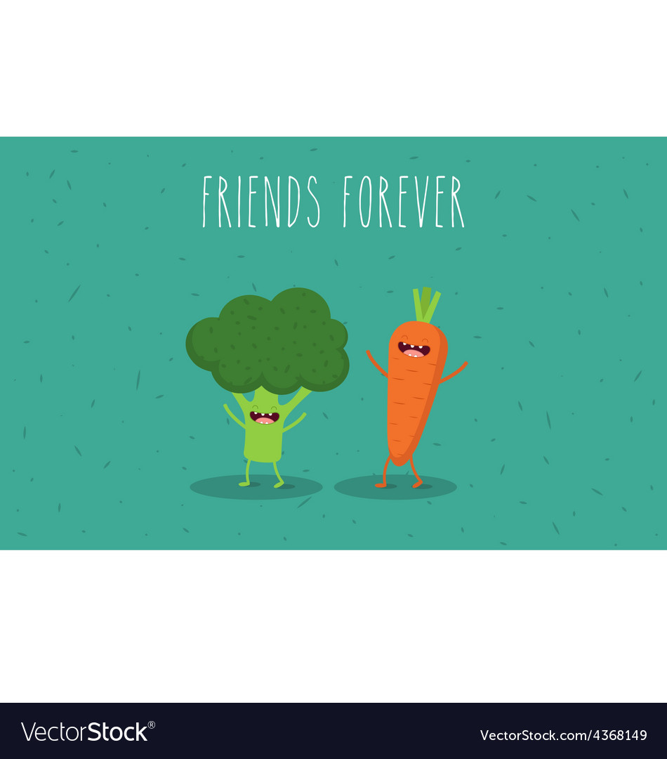 Carrot brocoly vector