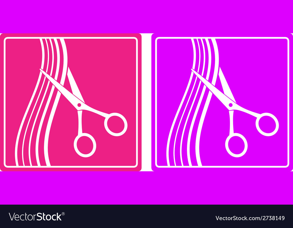 Colorful set of hair salon sign vector | Price: 1 Credit (USD $1)