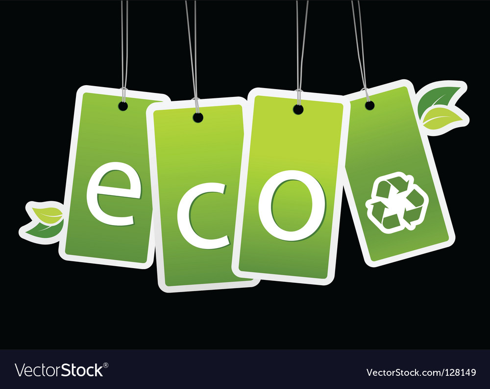 Eco green tags vector | Price: 1 Credit (USD $1)