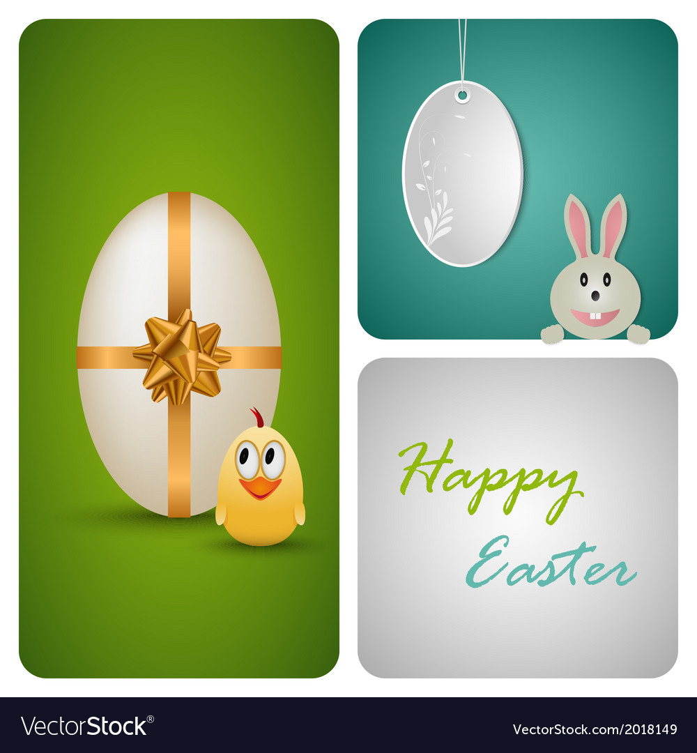 Happy easter decoration made from white paper vector | Price: 1 Credit (USD $1)