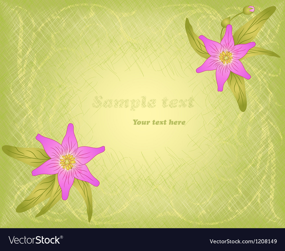 Hatch background with floral ornament and pink vector | Price: 1 Credit (USD $1)
