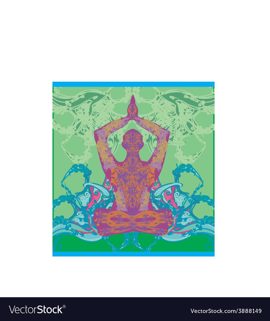 Men in meditation vector | Price: 1 Credit (USD $1)