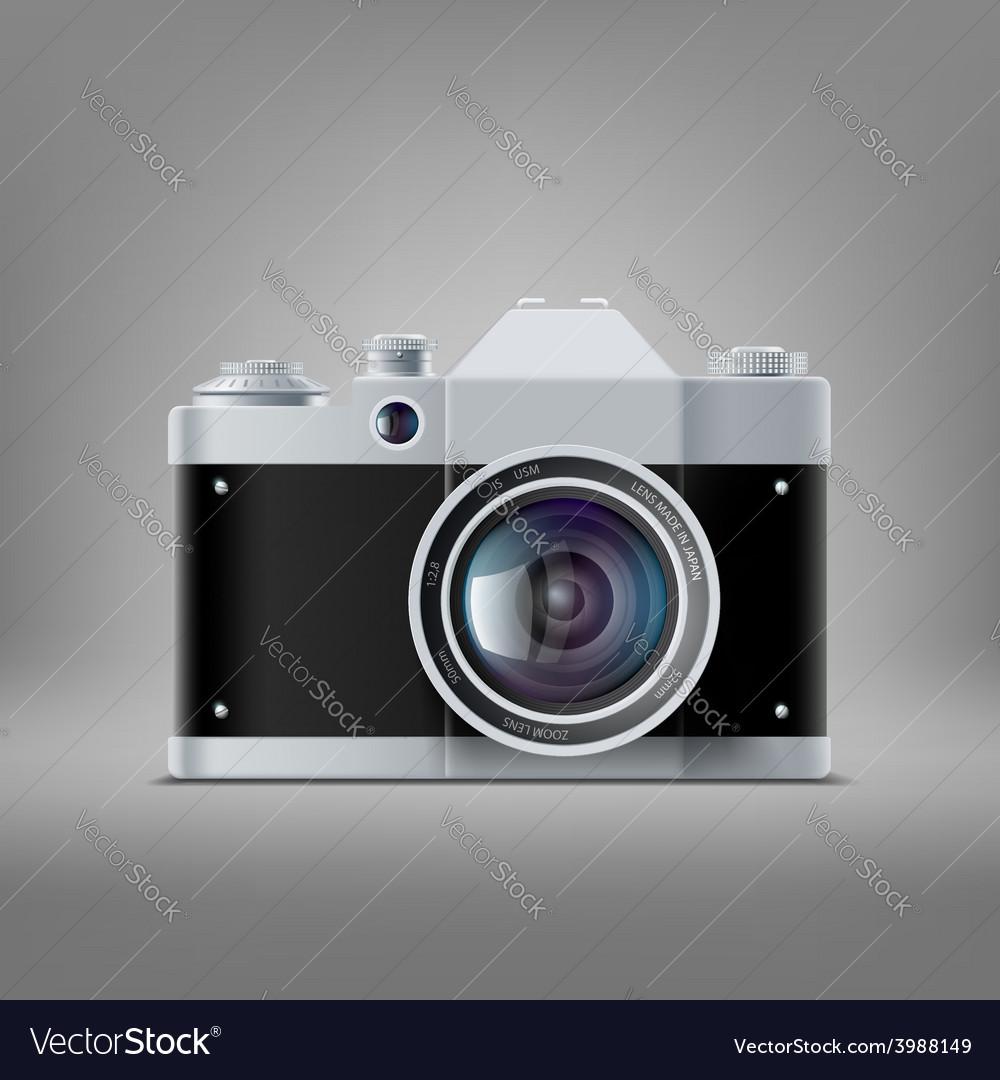 Old film camera vector | Price: 1 Credit (USD $1)