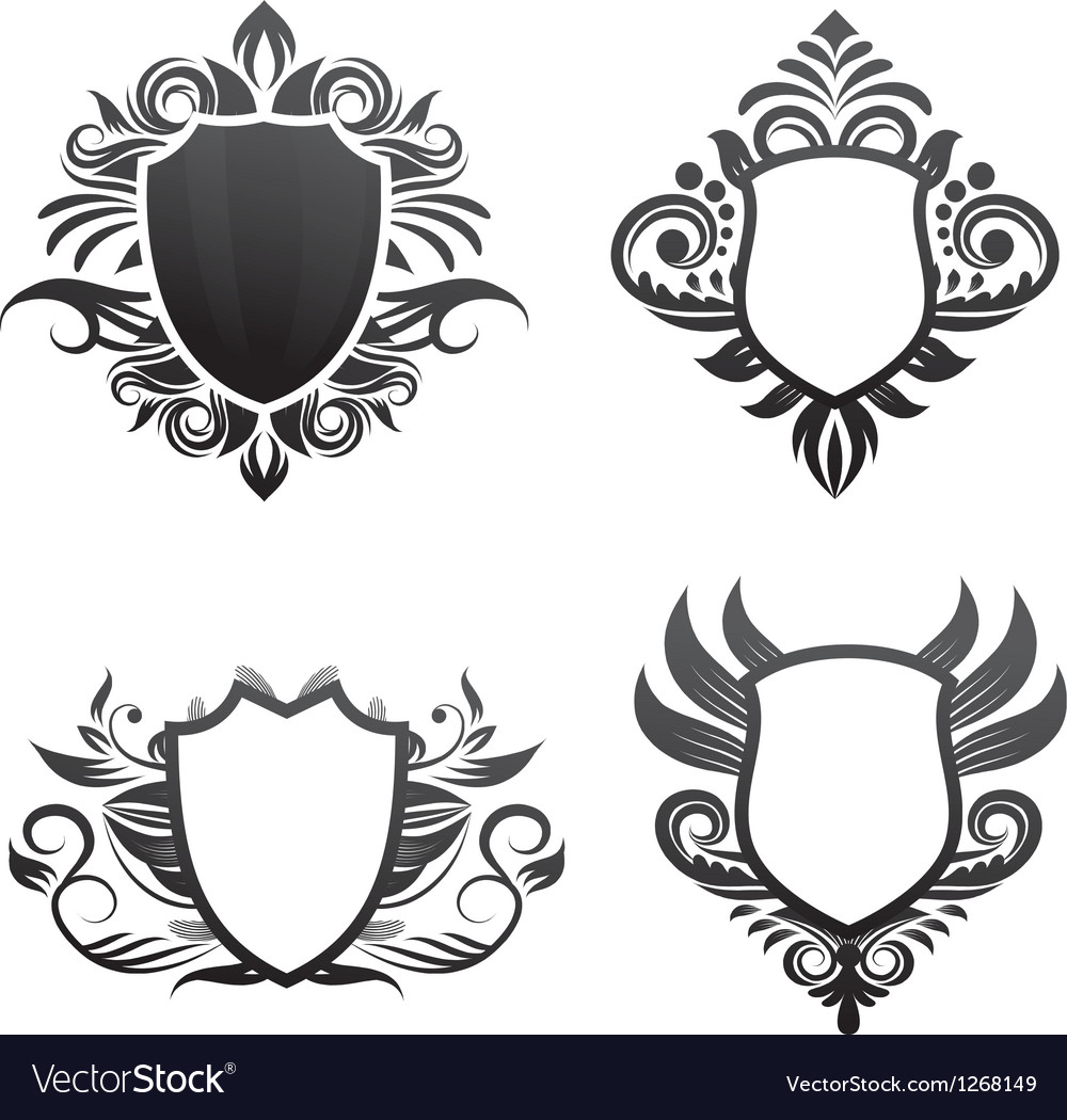 Shield-ornament-set vector | Price: 1 Credit (USD $1)