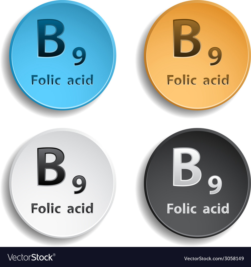 Vitamin b9 vector | Price: 1 Credit (USD $1)