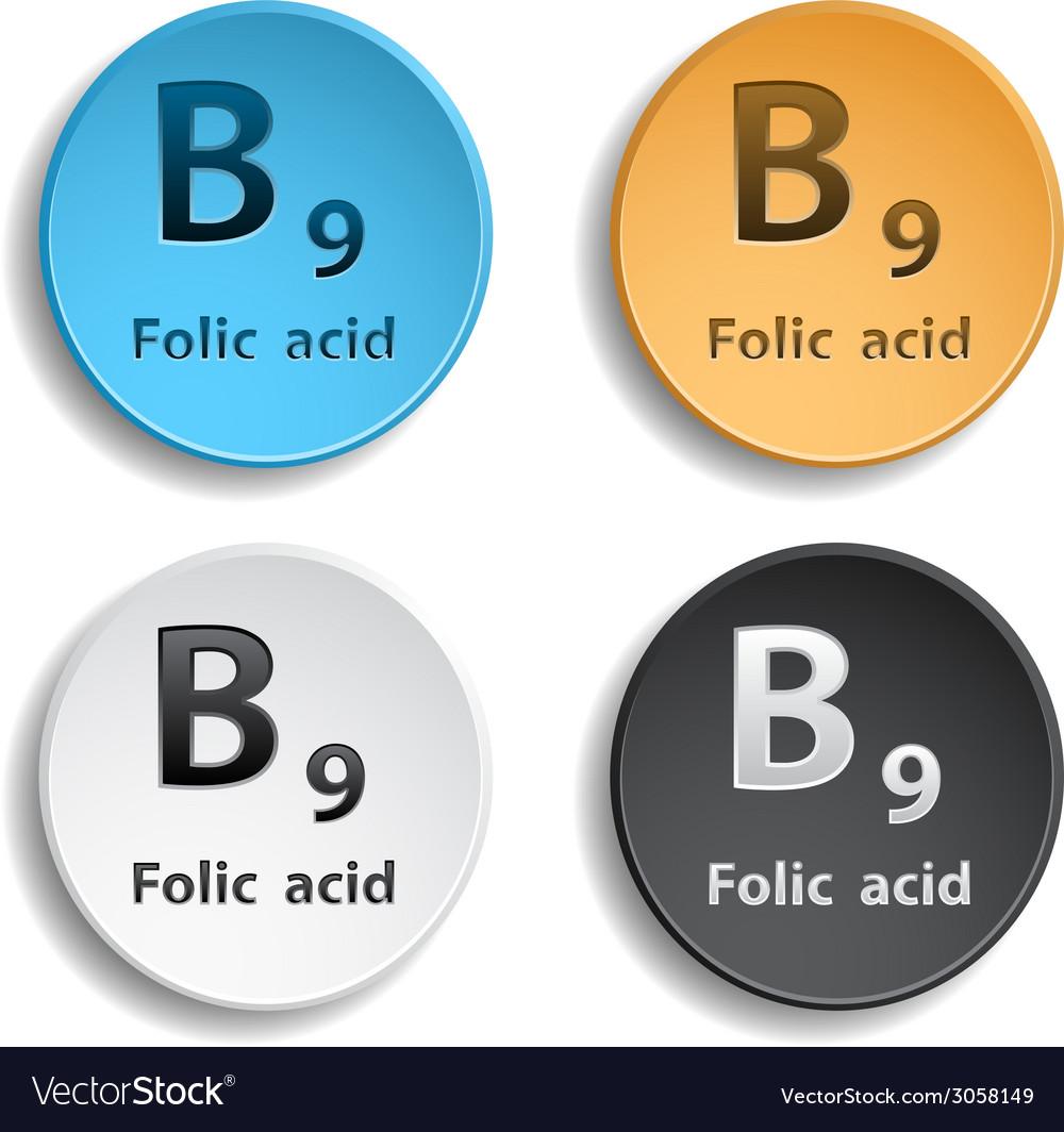 Vitamin b9 vector | Price: 1 Credit (USD $1)