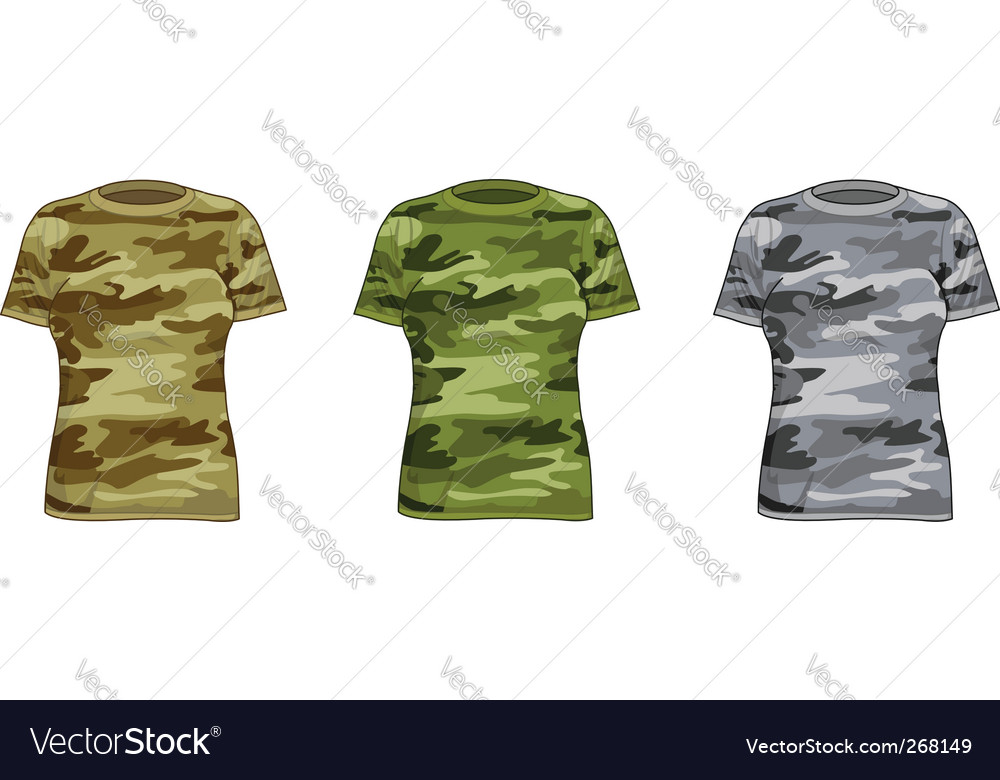 Women military shirts vector | Price: 1 Credit (USD $1)