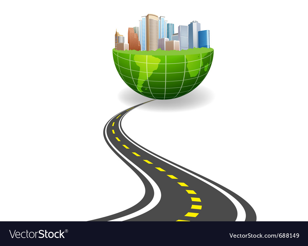World city road vector | Price: 3 Credit (USD $3)
