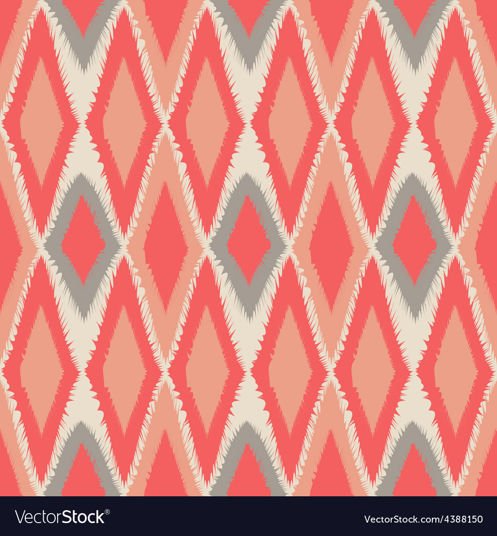 Abstract tribal art ethnic seamless ikat pattern vector | Price: 1 Credit (USD $1)