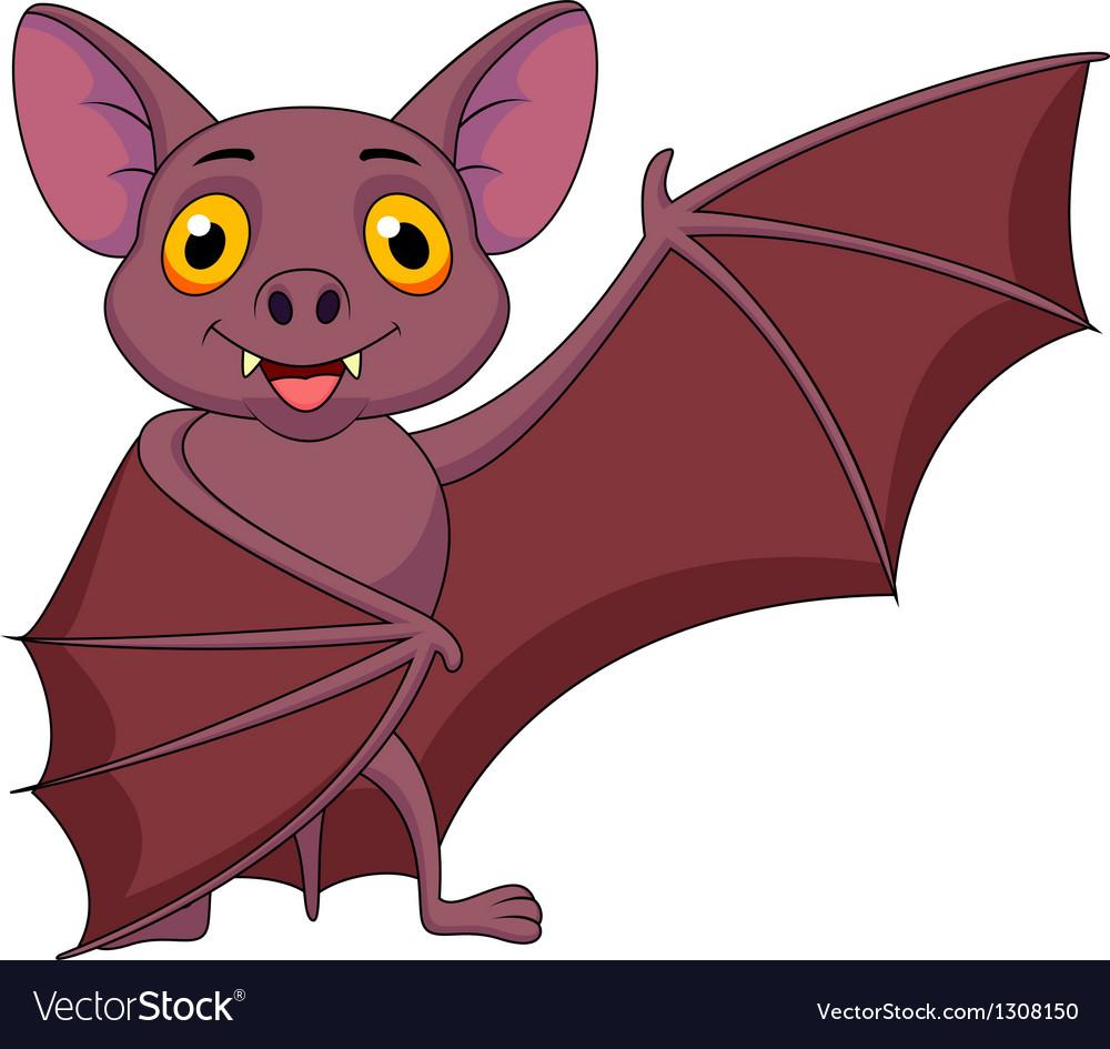 Bat cartoon waving vector   Price: 3 Credit (USD $3)