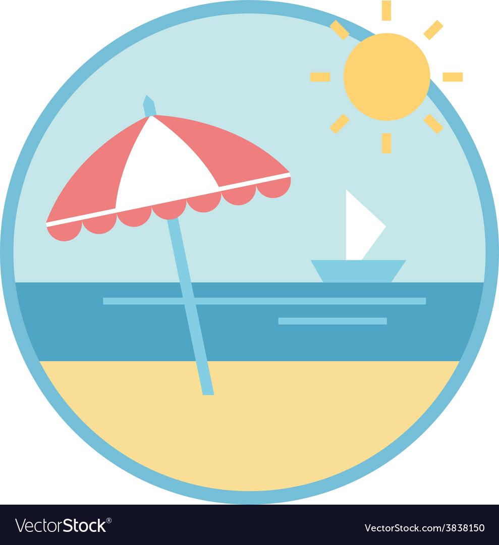 Beach equipment vector | Price: 1 Credit (USD $1)