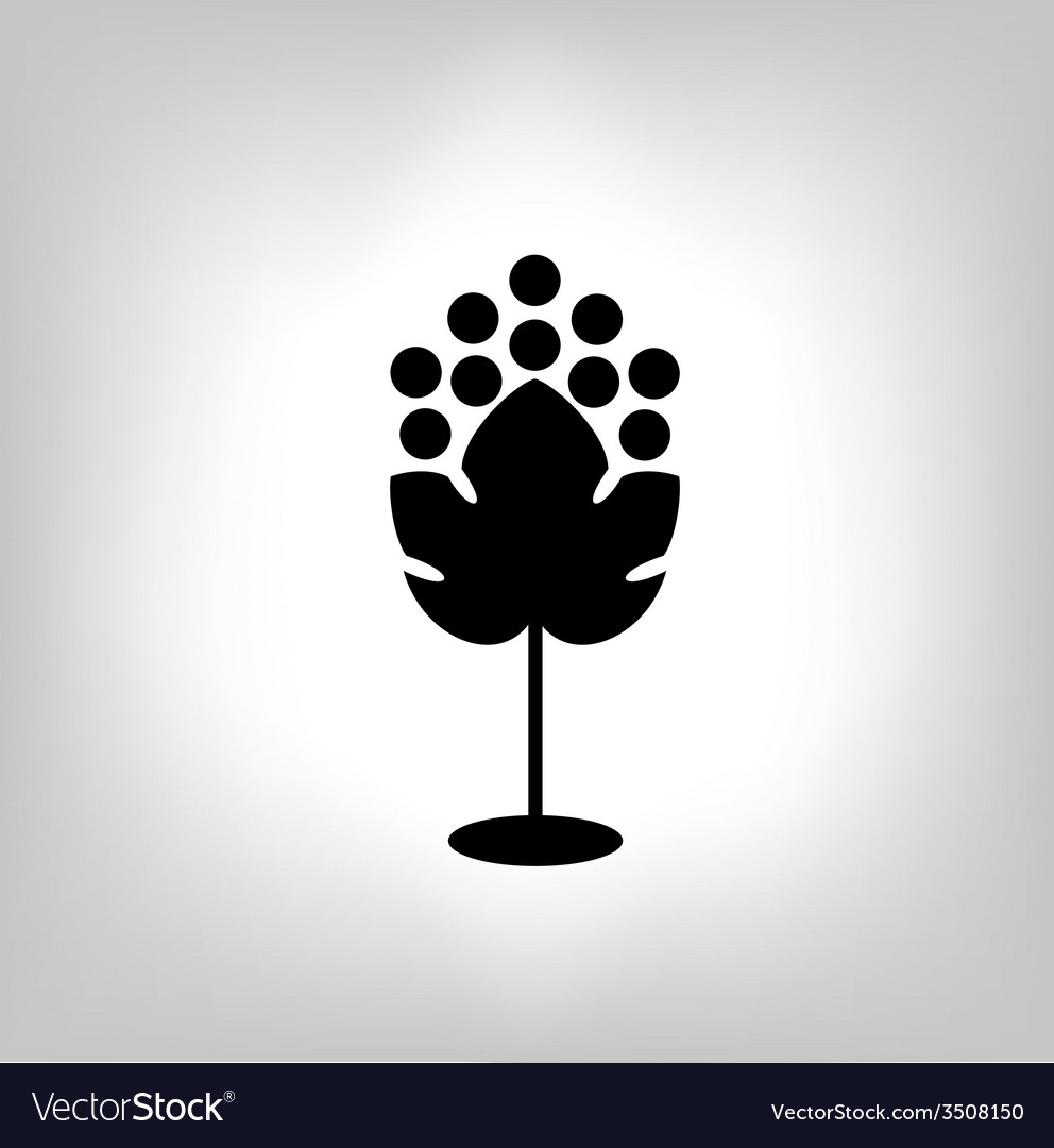 Black silhouette of grape vector   Price: 1 Credit (USD $1)