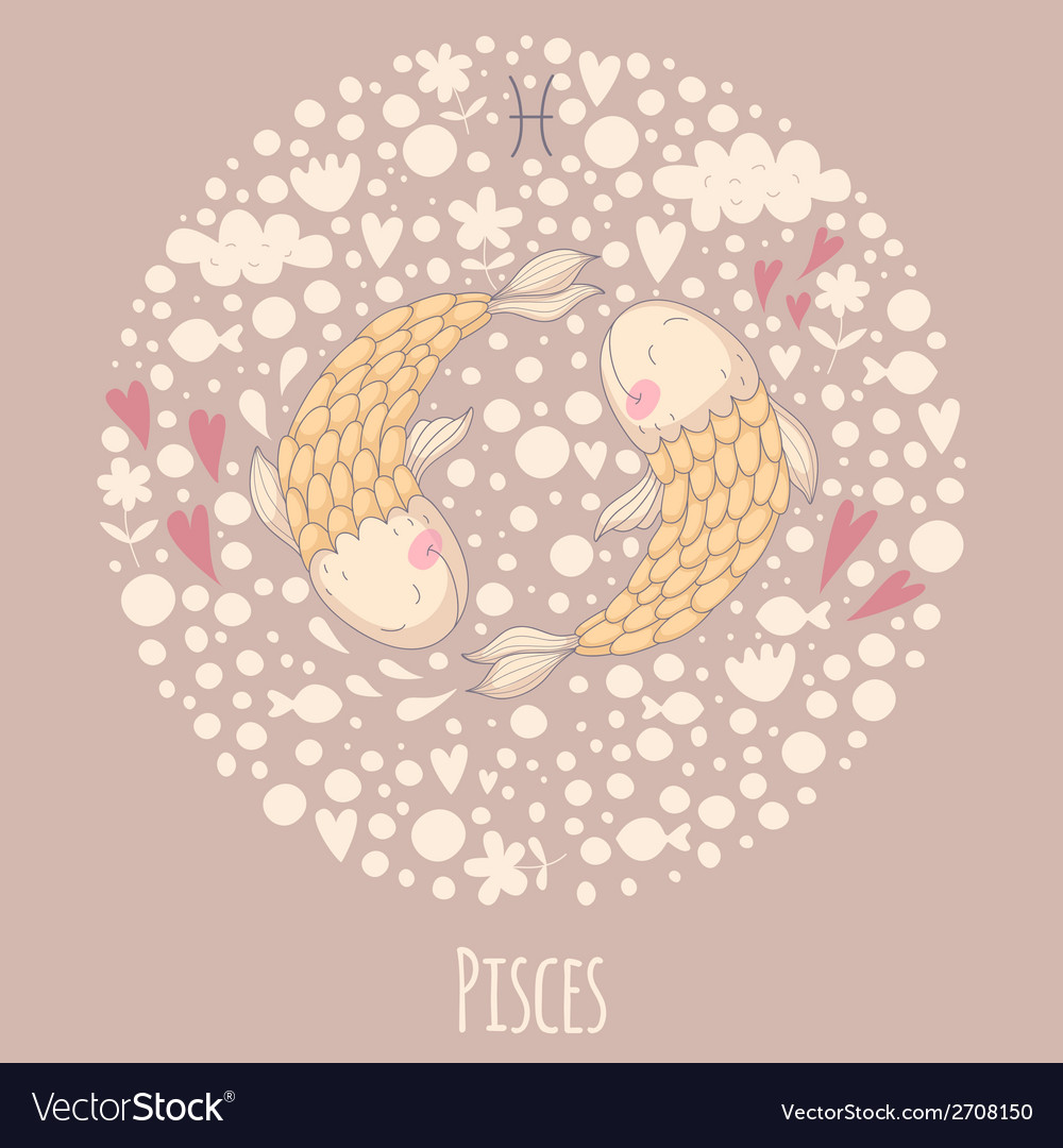 Cartoon of fishes pisces vector | Price: 1 Credit (USD $1)