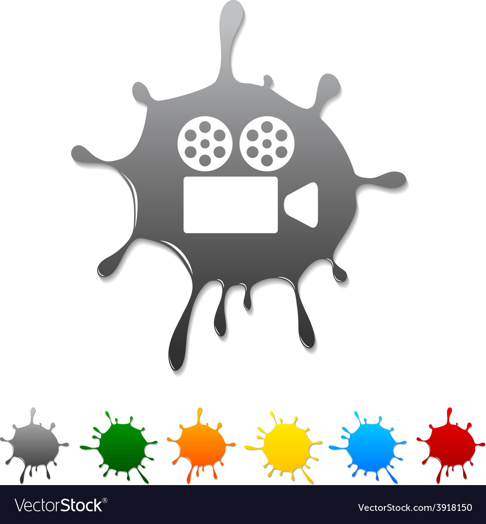 Cinema blot vector | Price: 1 Credit (USD $1)