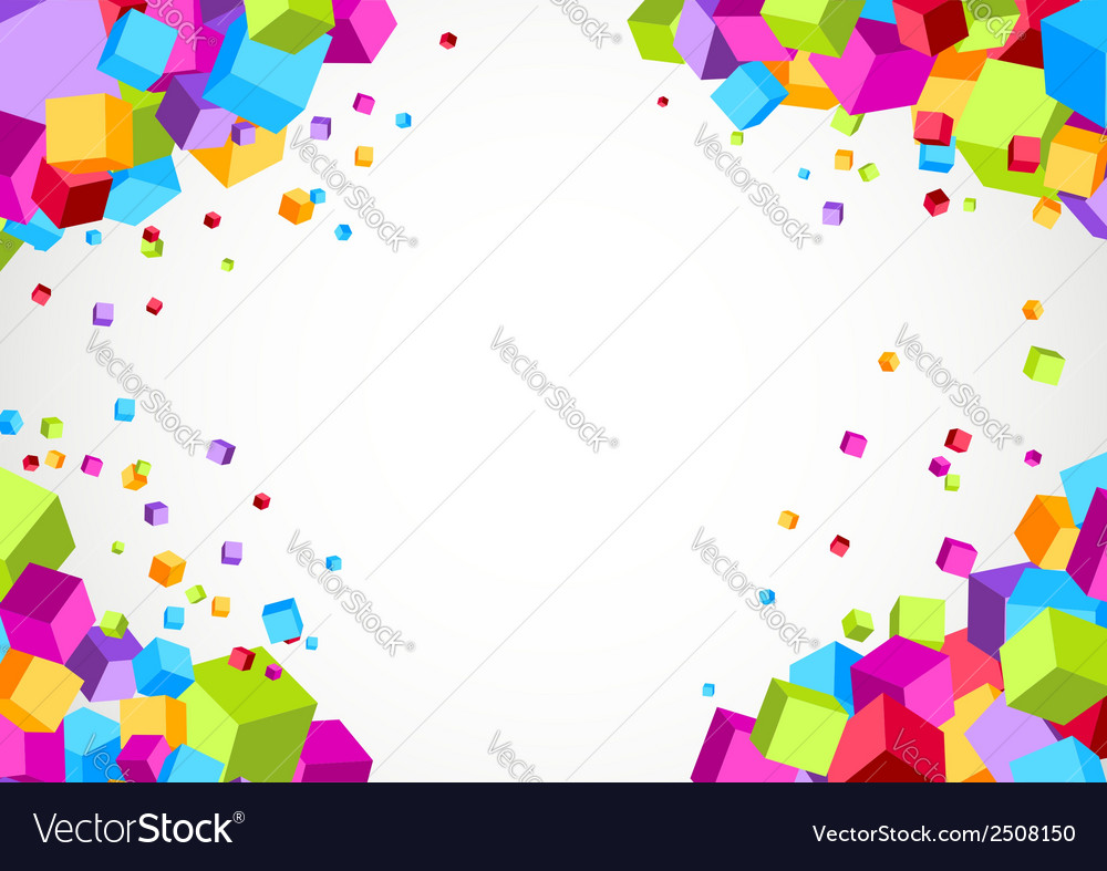 Colorful bright cube corner background vector | Price: 1 Credit (USD $1)