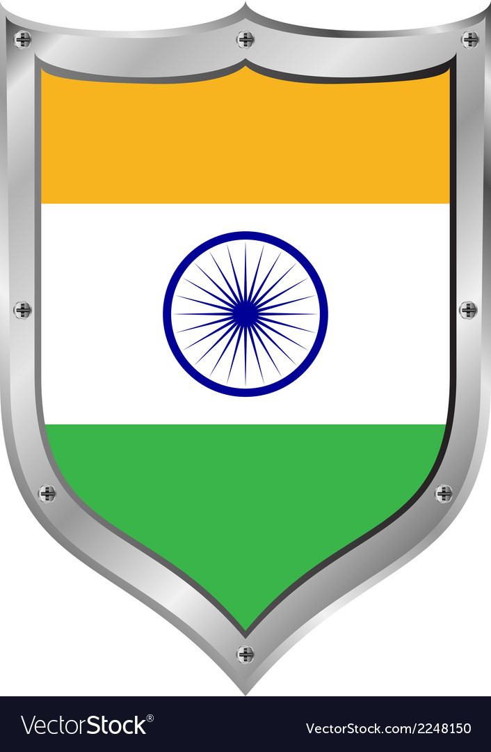 India flag button vector | Price: 1 Credit (USD $1)