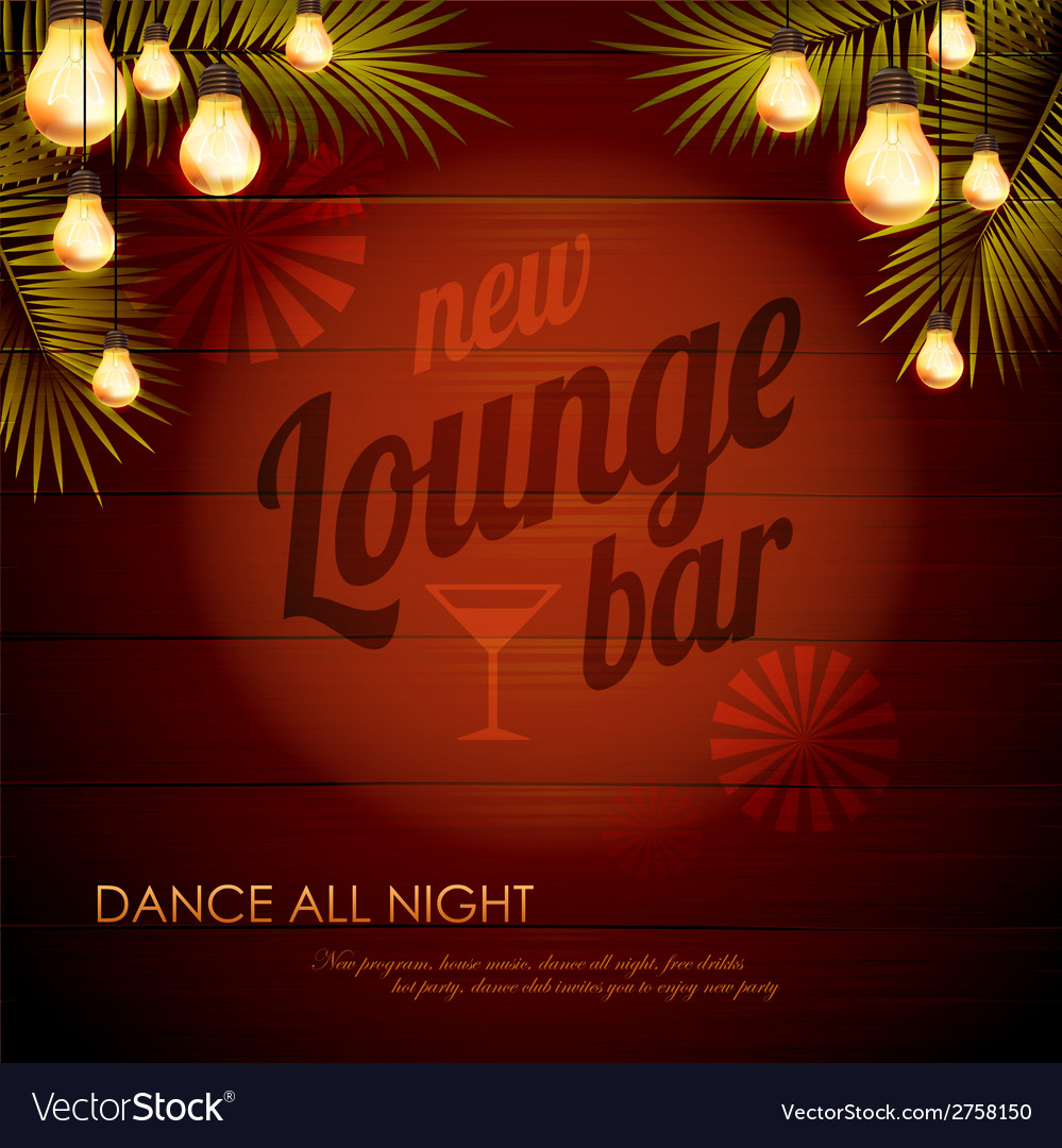 Vintage poster lounge club vector | Price: 1 Credit (USD $1)