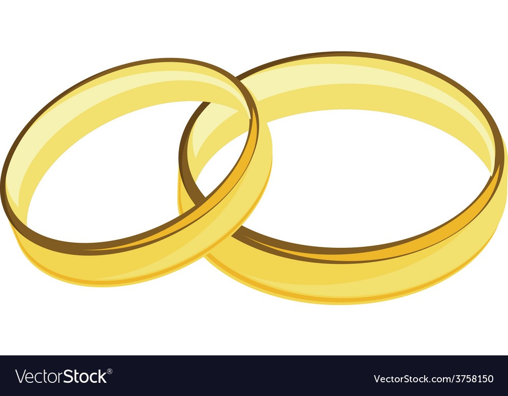 Weddings rings golden vector | Price: 1 Credit (USD $1)