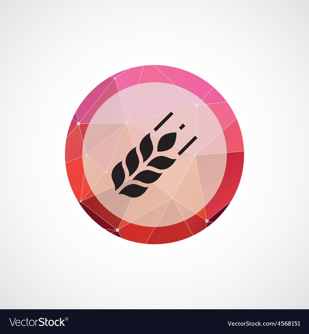 Agriculture circle pink triangle background icon vector | Price: 1 Credit (USD $1)