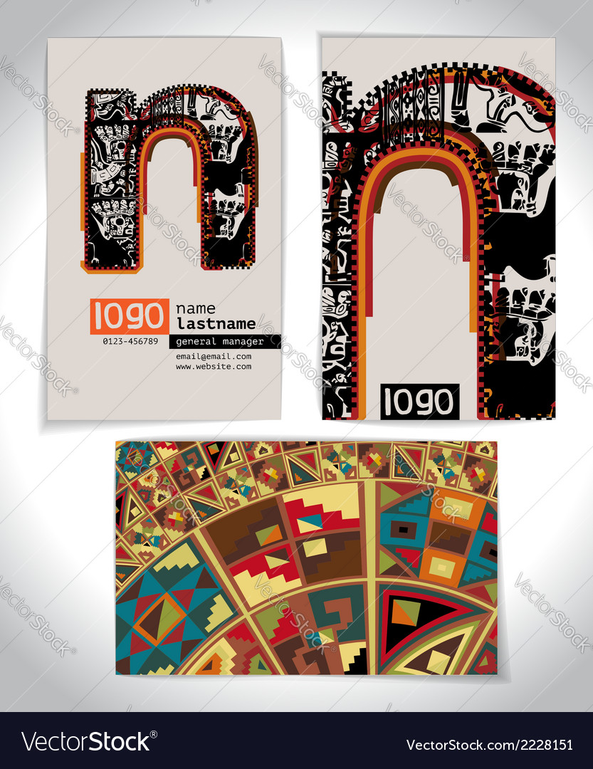 Ancient business card design letter n vector   Price: 1 Credit (USD $1)
