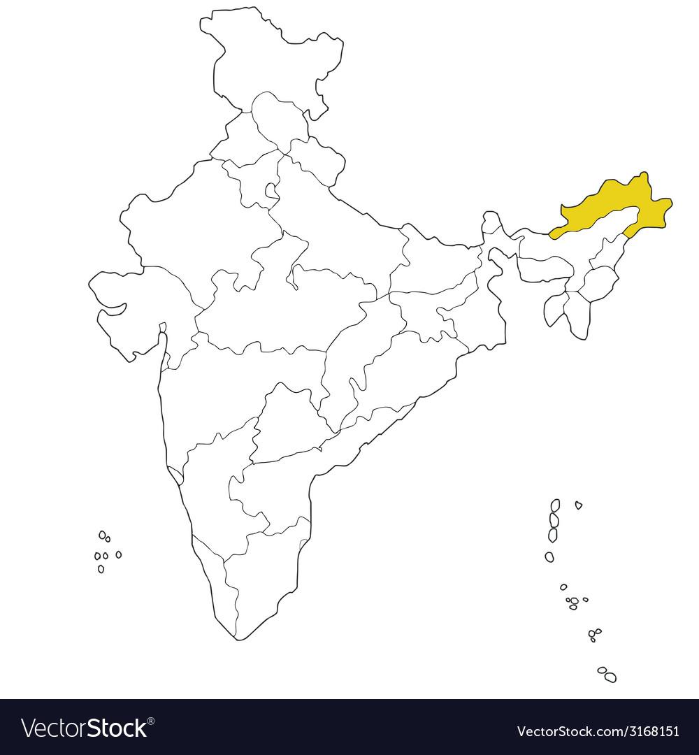 Arunachal pradesh vector | Price: 1 Credit (USD $1)