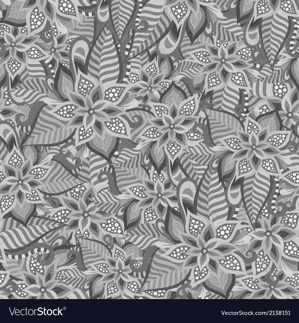 Beautiful decorative floral ornamental seamless vector | Price: 1 Credit (USD $1)