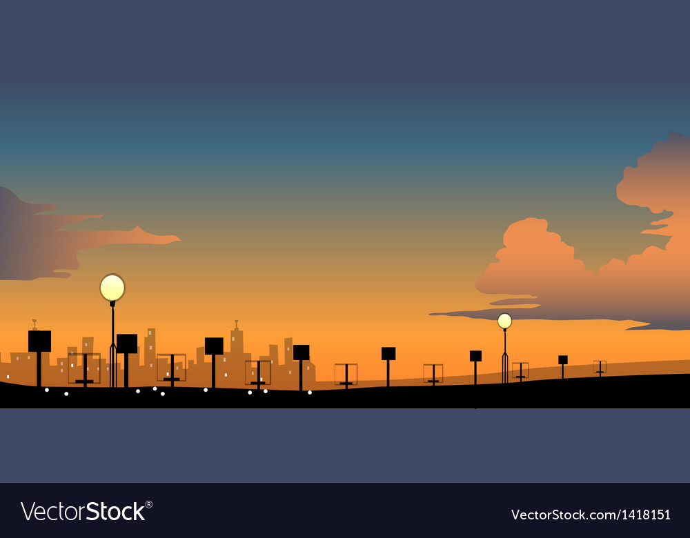 City skyline vector | Price: 1 Credit (USD $1)