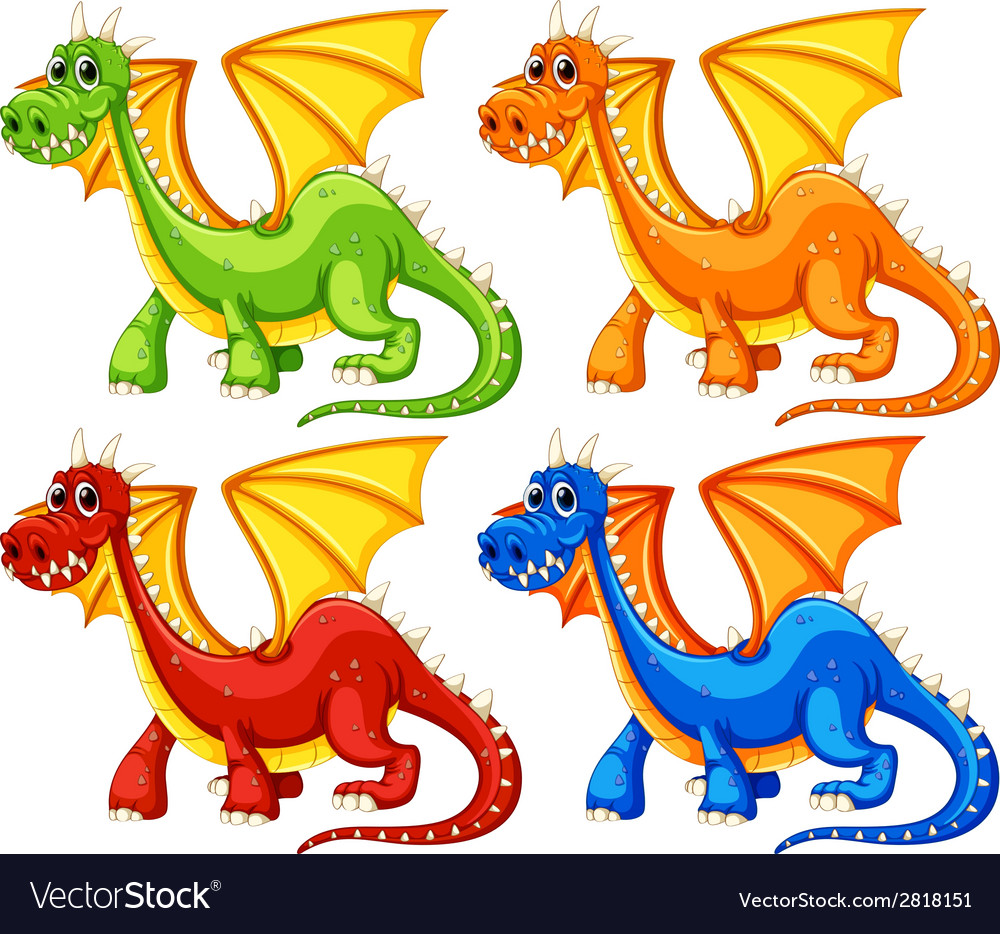 Dragons vector | Price: 3 Credit (USD $3)