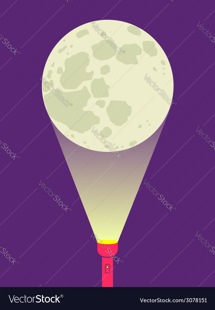 Flashlight moon vector | Price: 1 Credit (USD $1)