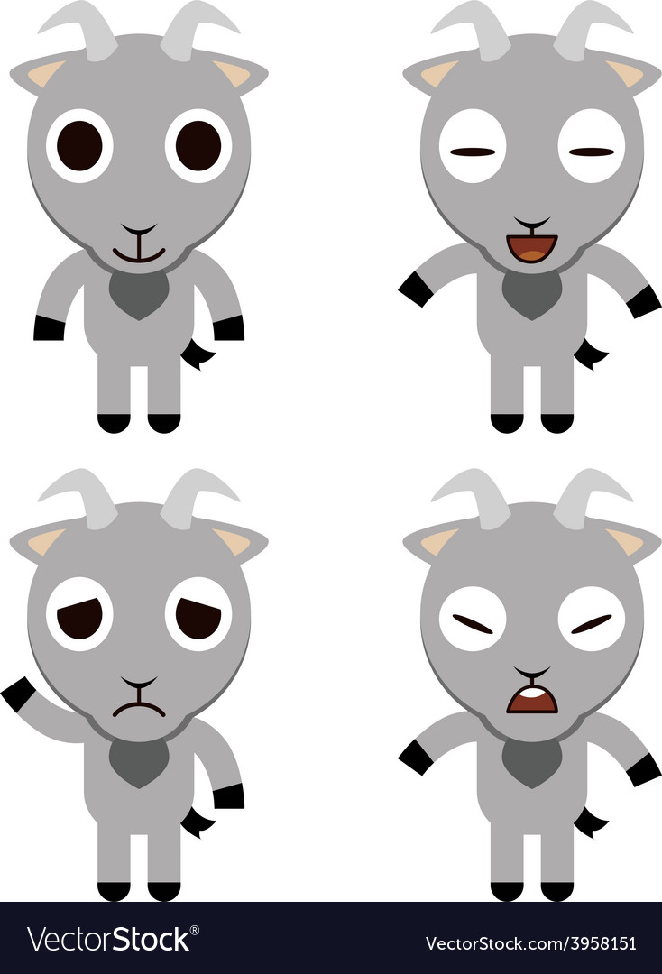 Goat cute cartoon vector | Price: 1 Credit (USD $1)