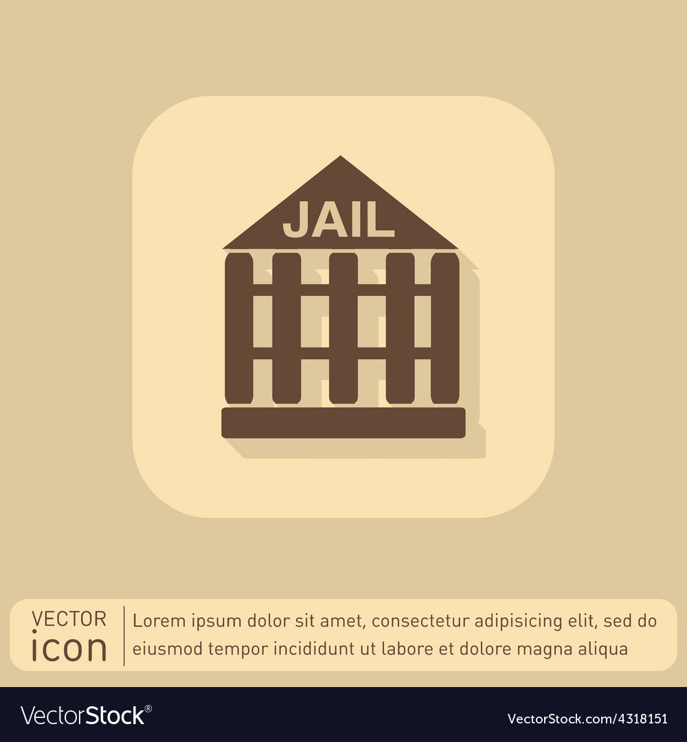 Jail prison icon symbol of justice police icon vector | Price: 1 Credit (USD $1)