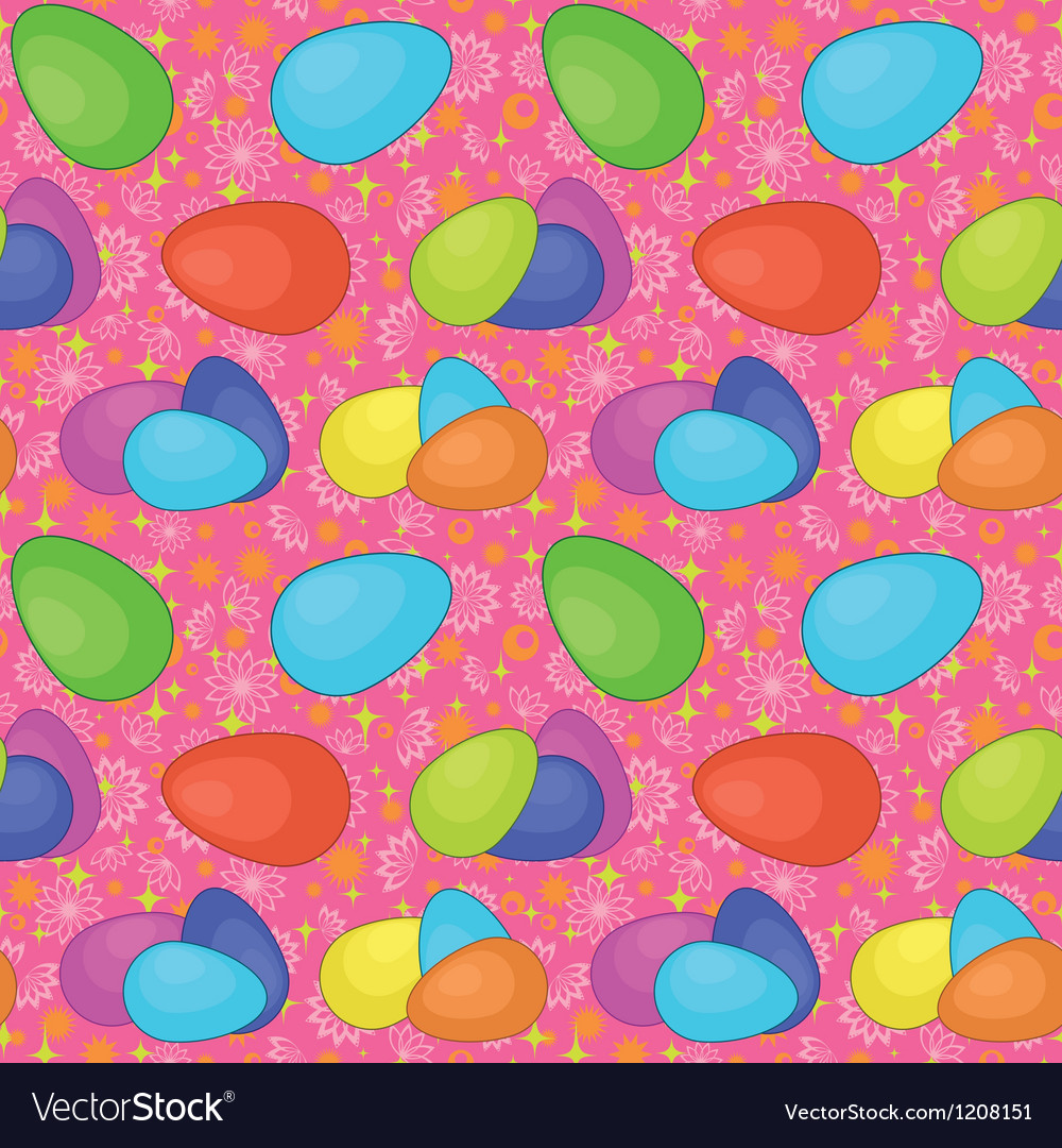 Seamless background easter eggs vector | Price: 1 Credit (USD $1)