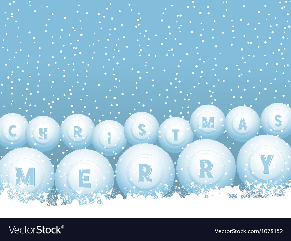 Bingo lottery ball christmas snowballs vector | Price: 1 Credit (USD $1)