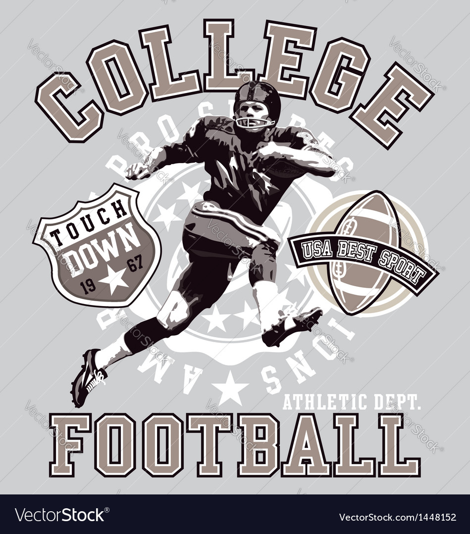 Football college vector | Price: 1 Credit (USD $1)