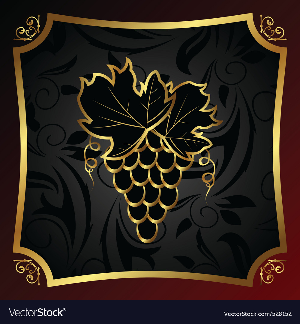 Golden label for packing wine vector | Price: 1 Credit (USD $1)