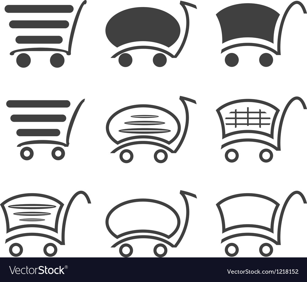 Icon set shopping vector | Price: 1 Credit (USD $1)